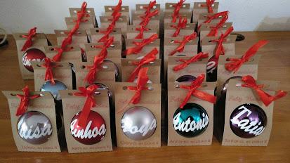 EVA GARCIA - Bola de navidad personalizada con caja (8 cm)