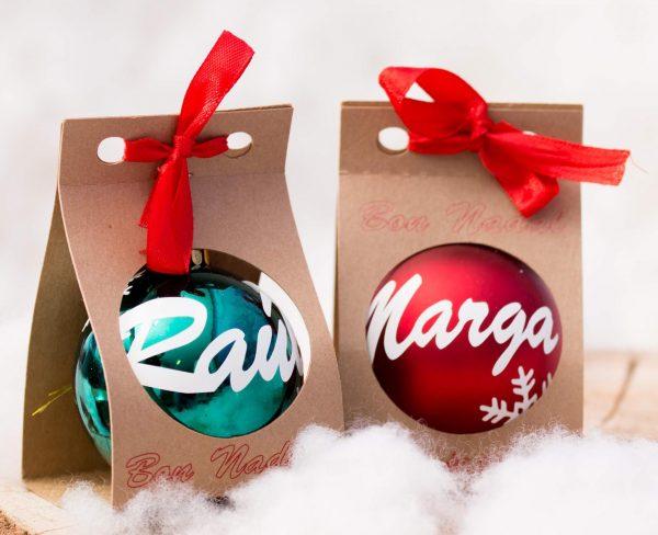 Bolas de navidad con nombre
