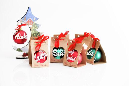 bolasarbol - Bola de navidad personalizada con caja (8 cm)