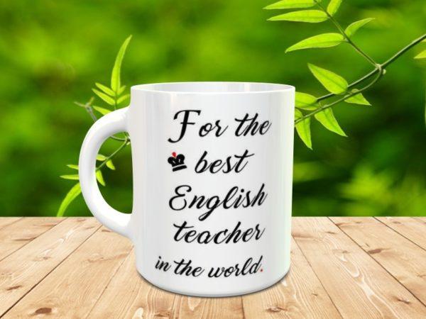 Taza para regalar al profesor/a inglés