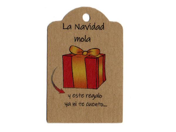 Tarjeta para regalo, la navidad mola