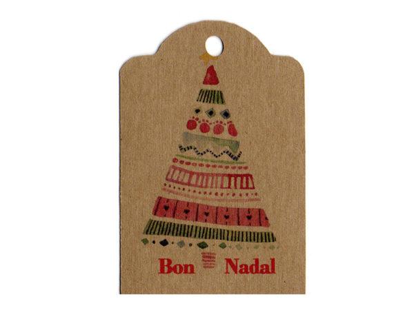 Tarjeta con frases, Bon Nadal