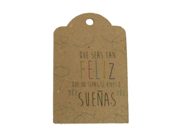 tarjeta con frase que seas tan feliz