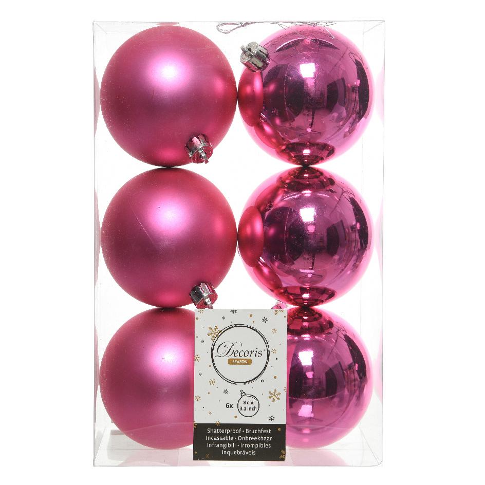 Bolas de navidad personalizadas, muestra color rosa llamativo