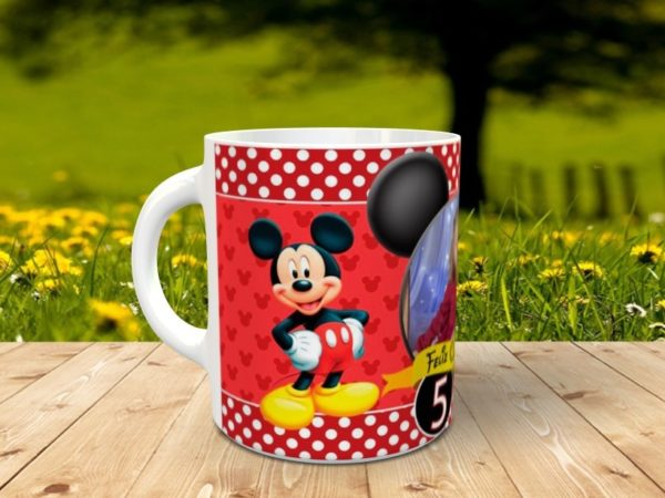 cumple mickey mouse 3 600x450 - Taza mickey mouse para cumpleaños con foto