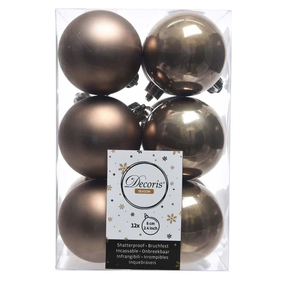 Bola de navidad, muestra color marrón helado