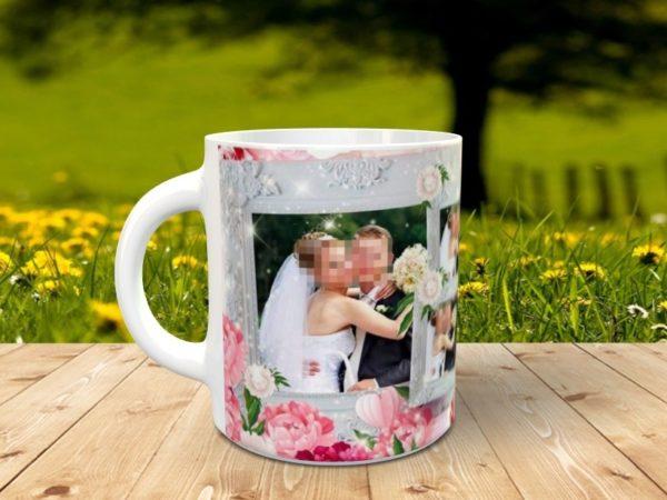 Foto taza recuerdo bodas, lado iquierdo