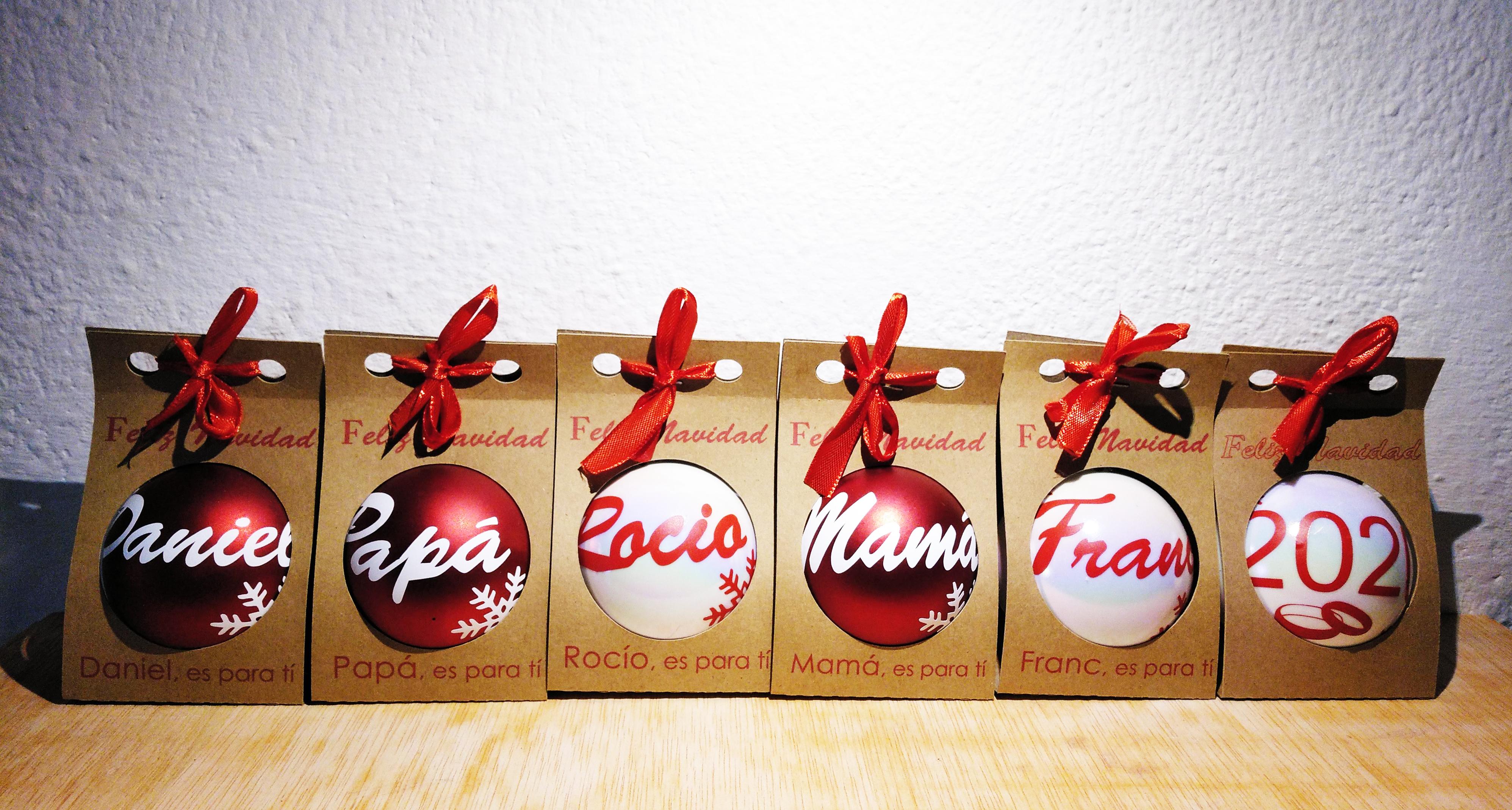 Bolas de navidad con caja personalizada Lause Arte