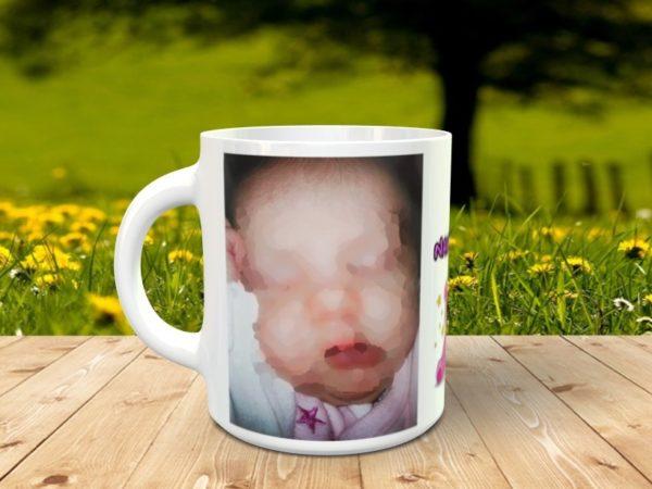 Tazas personalizadas recien nacida con foto