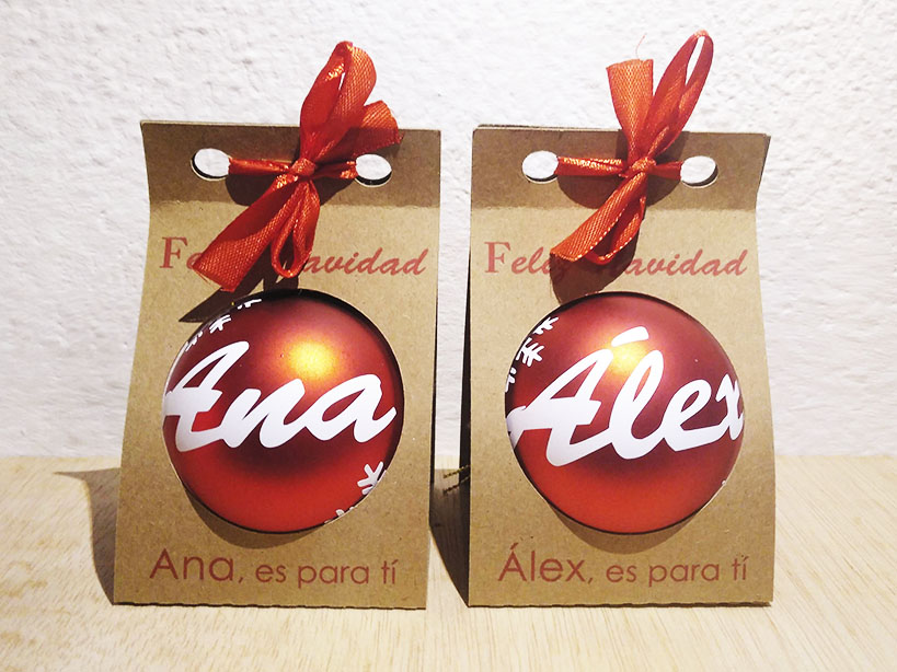 Pedido ana alex - Estas bolitas de navidad personalizada se nos va...