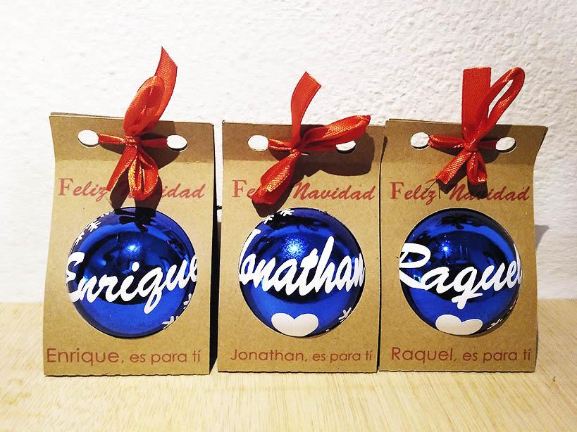 Bolitas de Navidad azules… que bonitas!!!