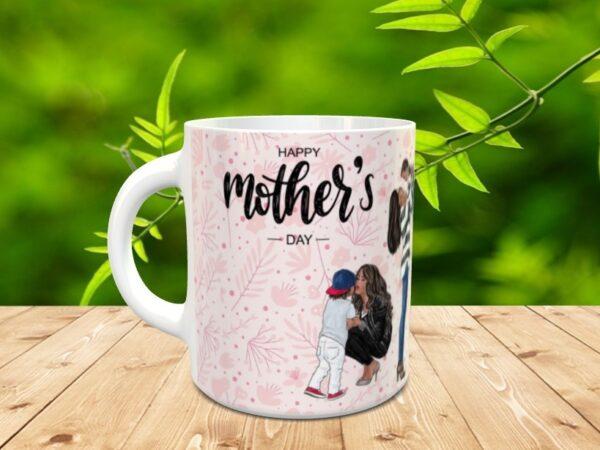 """Mama mothers3 600x450 - Taza para el día de la madre """"Mother's"""""""