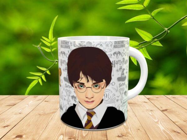 harry gris 1 600x450 - Taza personalizada de Harry Potter