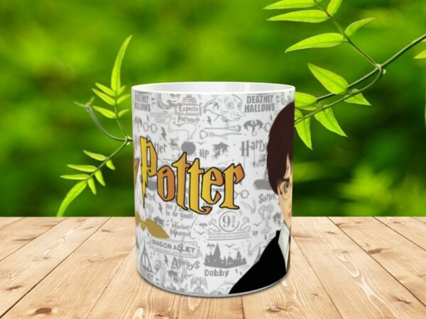 harry gris 2 600x450 - Taza personalizada de Harry Potter