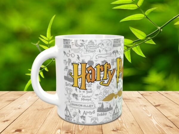 harry gris 3 600x450 - Taza personalizada de Harry Potter