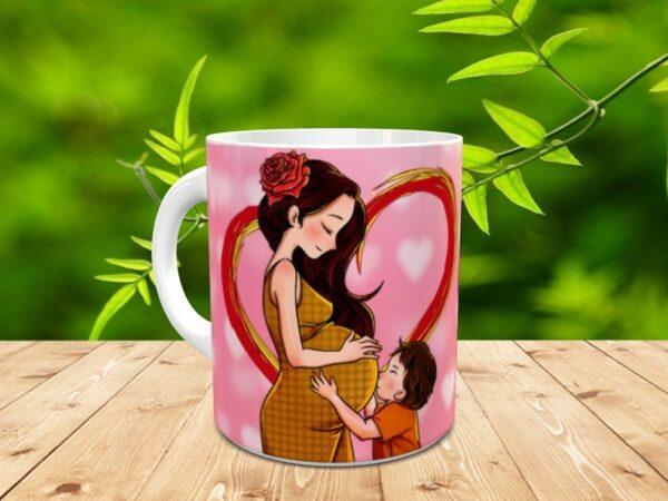 """madre2 600x450 - Taza para el día de la madre """"La mejor madre"""""""