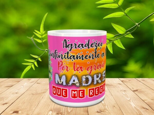 """mama dios2 600x450 - Taza para el día de la madre """"Mamá Dios"""""""