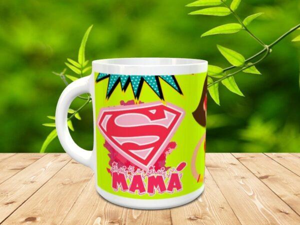 """mama increible2 600x450 - Taza para el día de la madre """"Mamá invencible"""""""