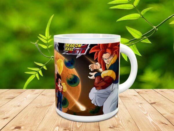 Goku 3x 600x450 - Taza Son Goku 3