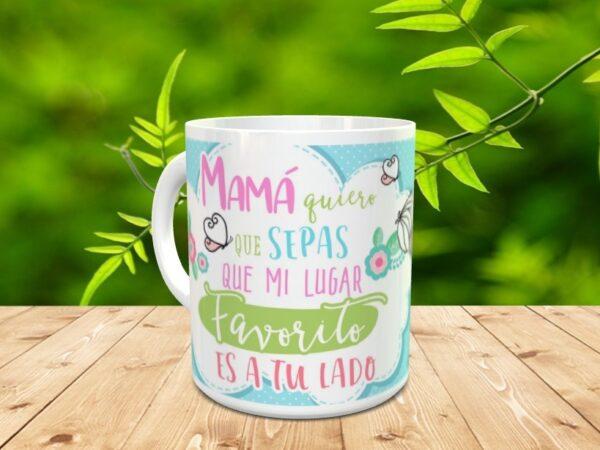"""mamaladox 600x450 - Taza para el día de la madre """"Mamá lado"""""""